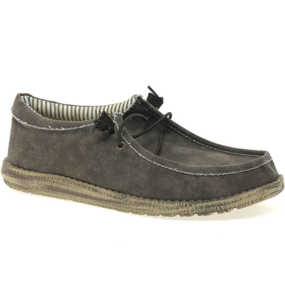 dude wally mens canvas shoes dude from charles clinkard uk
