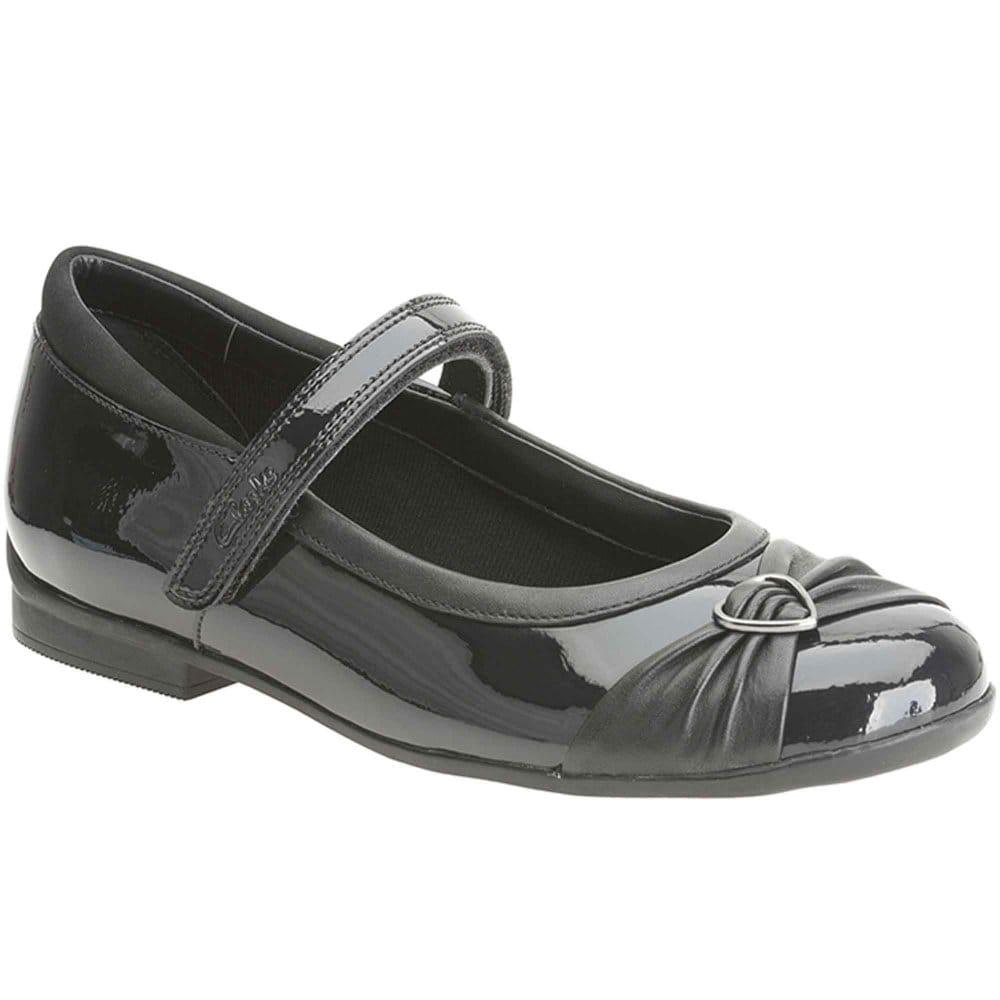 Clarks Childrens Black Shoes