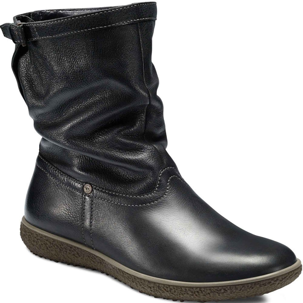 ecco aude slouch boots leather wool lined charles clinkard