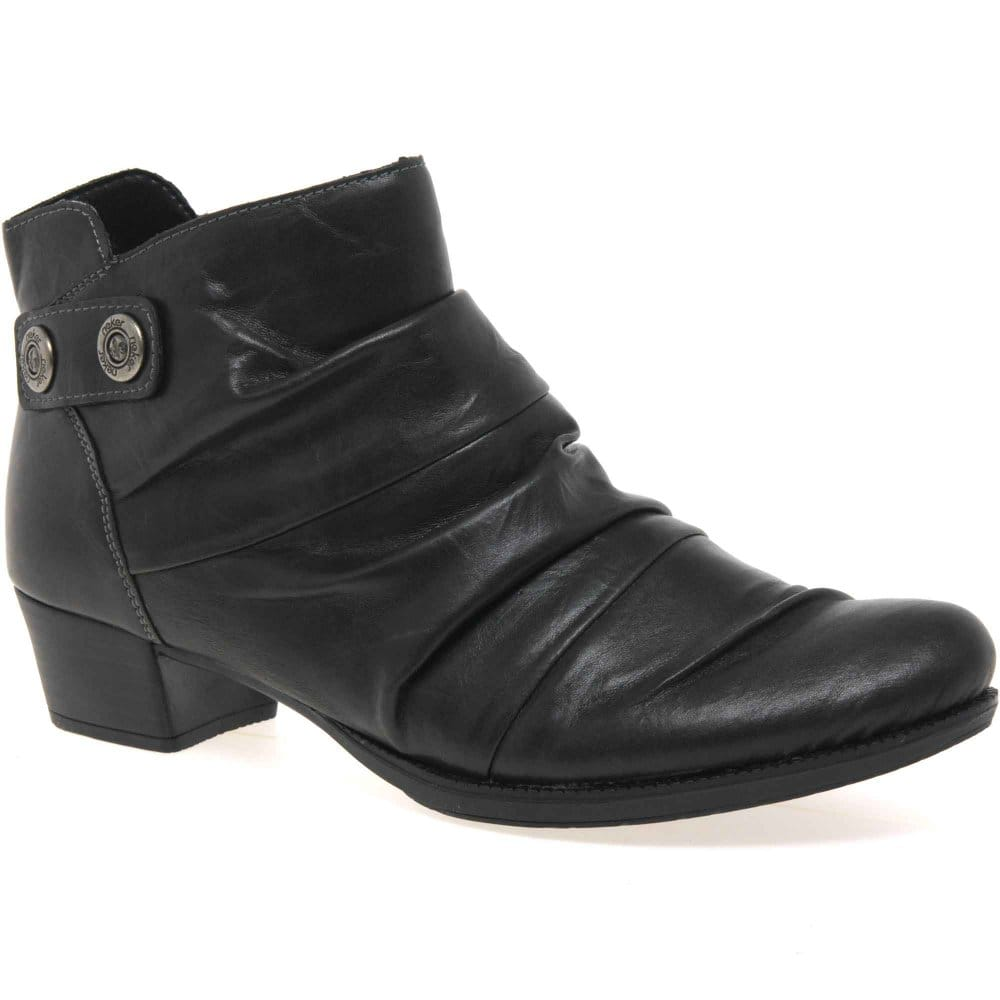 rieker ruched womens ankle boots rieker from charles