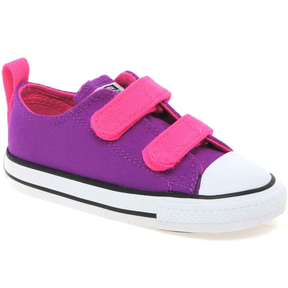 Converse All Star Velcro Infant Girls Canvas Shoes