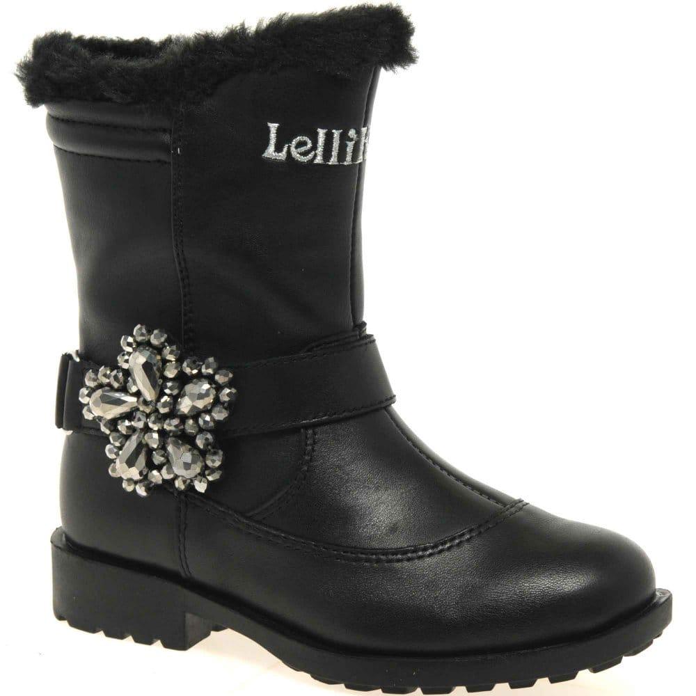 Lelli Kelly Shayla Boots Black Patent Charles Clinkard