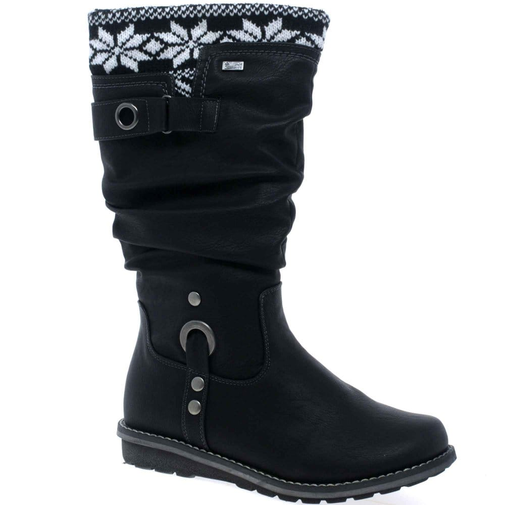 rieker fairisle womens boots rieker from charles