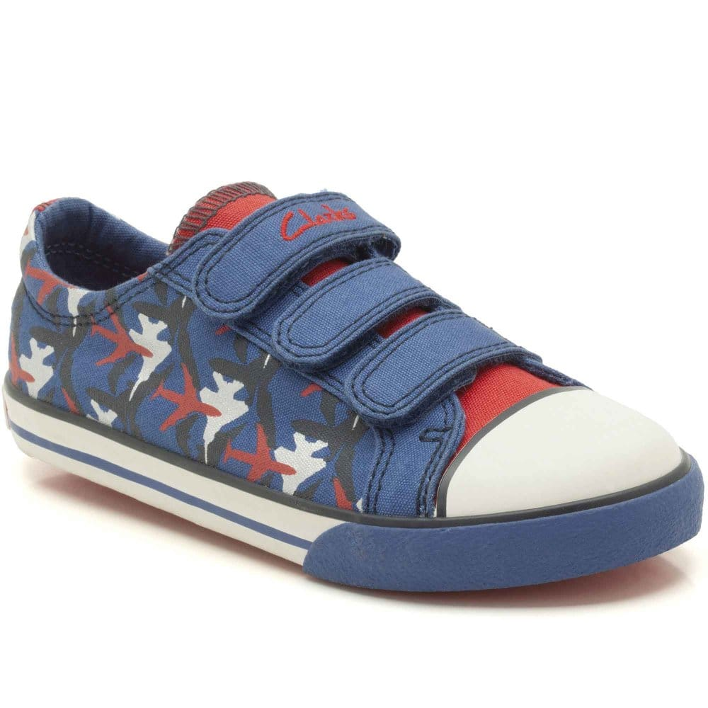 clarks wing it canvas shoes riptape trainers charles