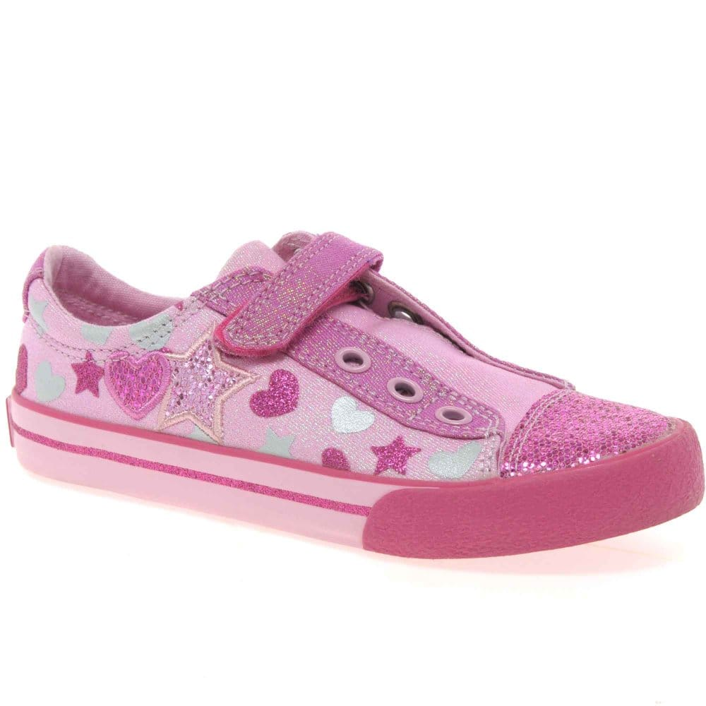 clarks glitter be infant canvas shoes