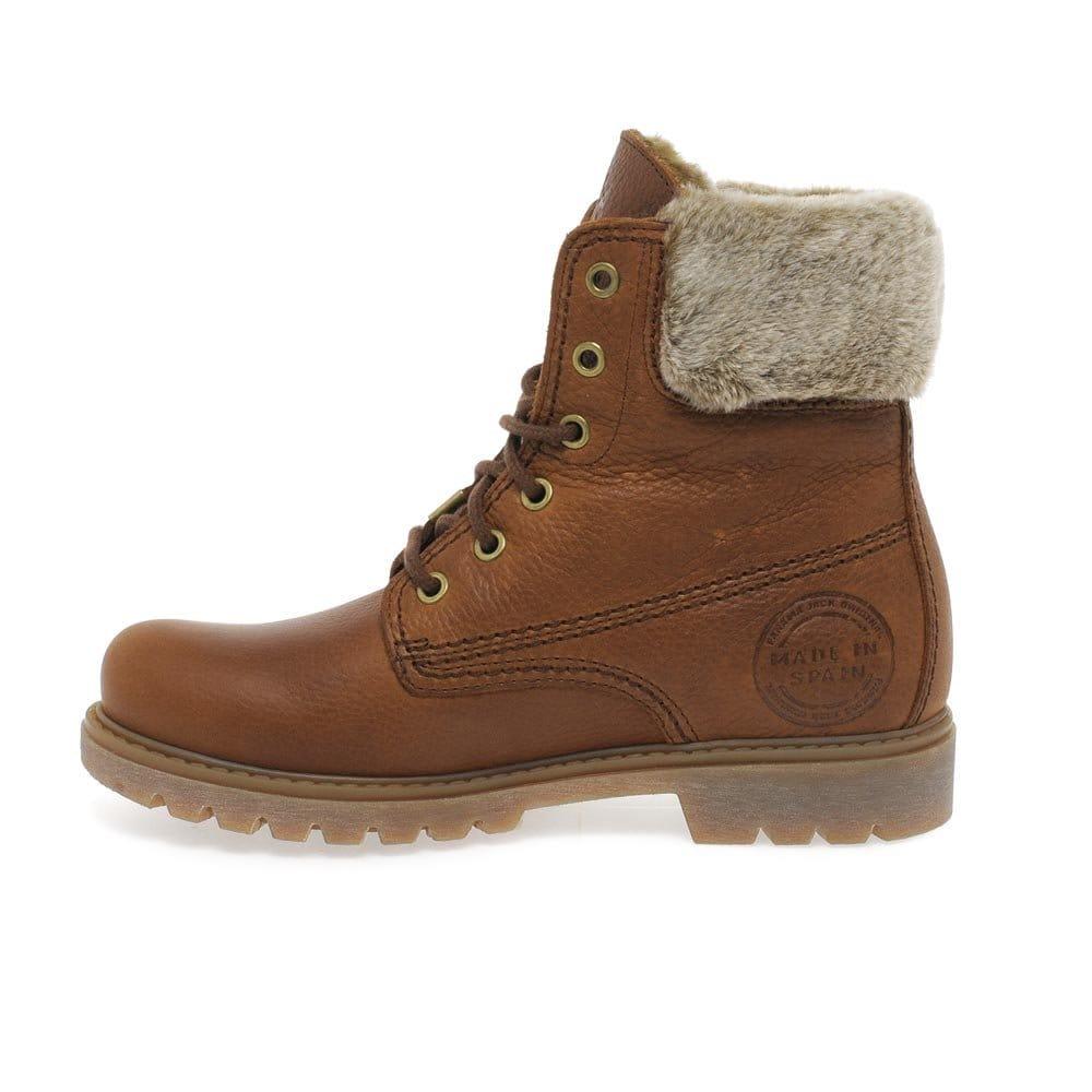 Creative Panama Jack Womens Rich Brown Sheepskin Lined Boots
