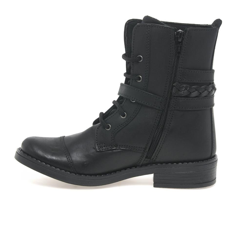 Kids At Clinks Military Girls Ankle Boots Kids At Clinks