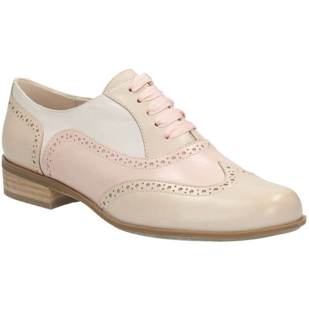 clarks hamble oak brogues pink and charles clinkard