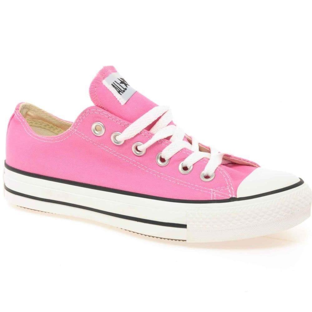 converse allstar oxford pink canvas shoes