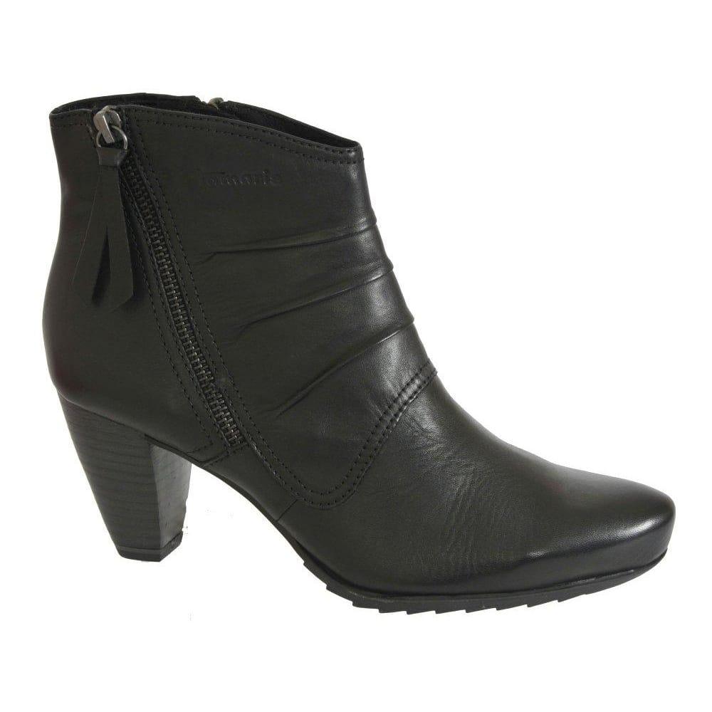 Tamaris Tag Ladies Black Leather Ankle