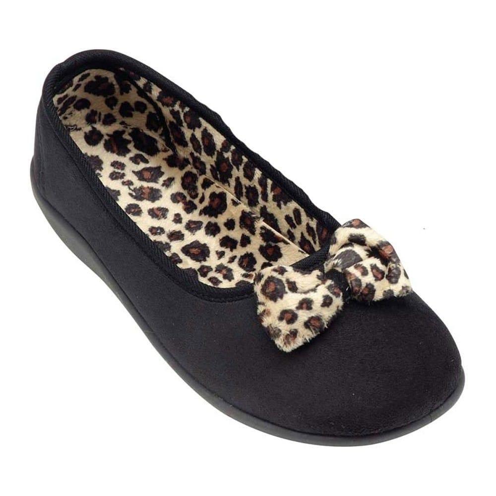 Dunlop Kara Ladies' Black Leopard Print