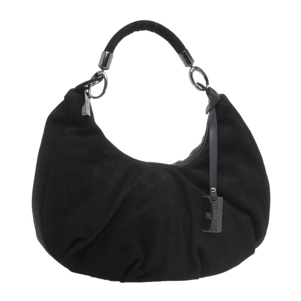Peter Kaiser Large Black Suede Handbag - Handbags from Charles ...