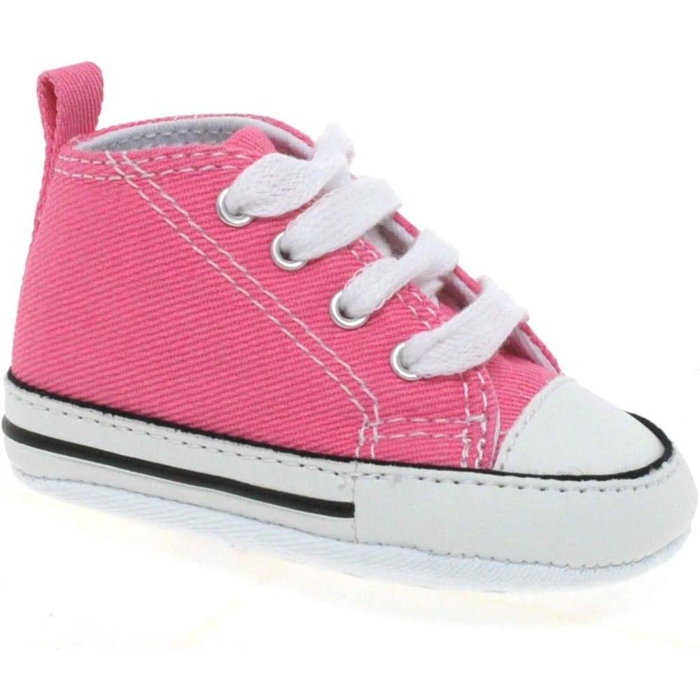 salida Están deprimidos Un pan  Converse First Star Crib Pink Hi-Tops - Shoes from Charles Clinkard UK