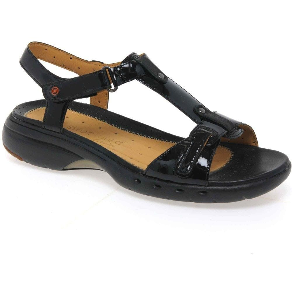clarks black sandals 50% off 83e60 03921