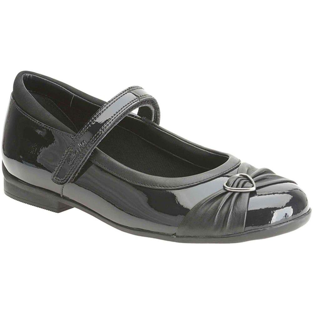/'Girls Clarks/' Formal//School Shoes Dolly Heart