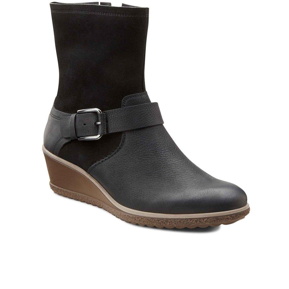 ecco wedge boots