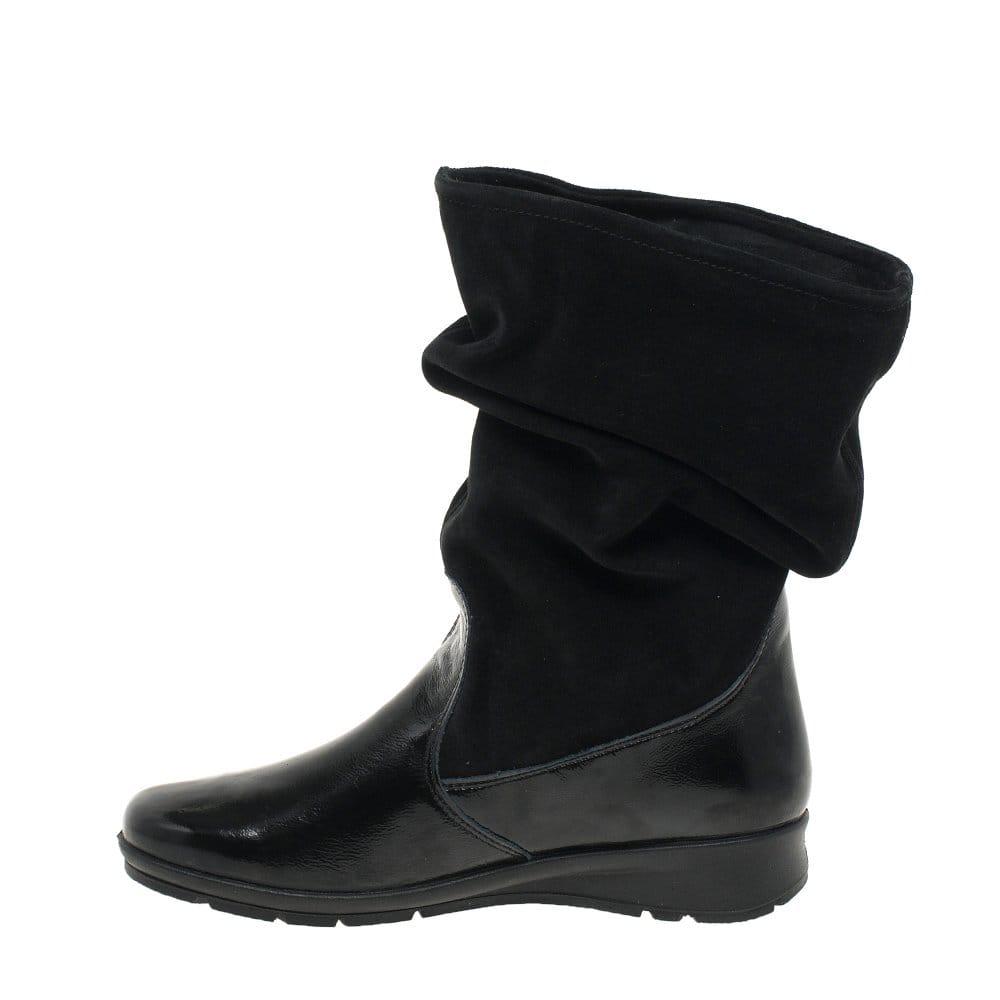 Van Dal Heath Black Leather Suede