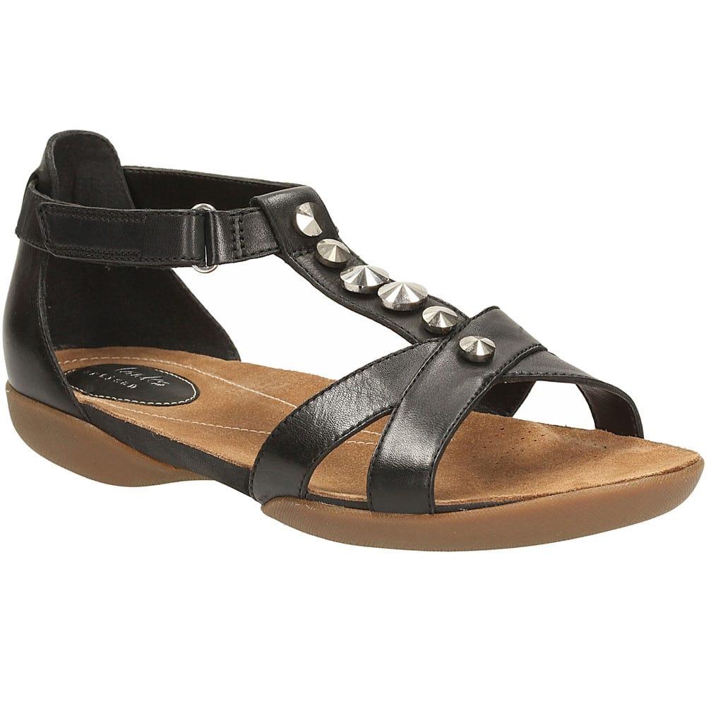 digerir Antecedente Alfombra de pies  Clarks Raffi Scent Sandals | Black Leather | Charles Clinkard