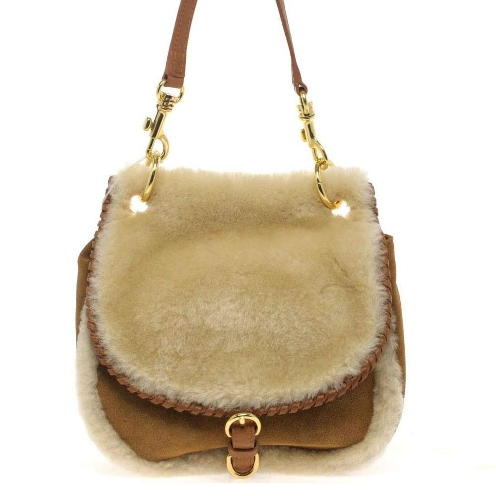 exclusive range watch fashion style Quinn Small Crossbody Suede Sheepskin Bag