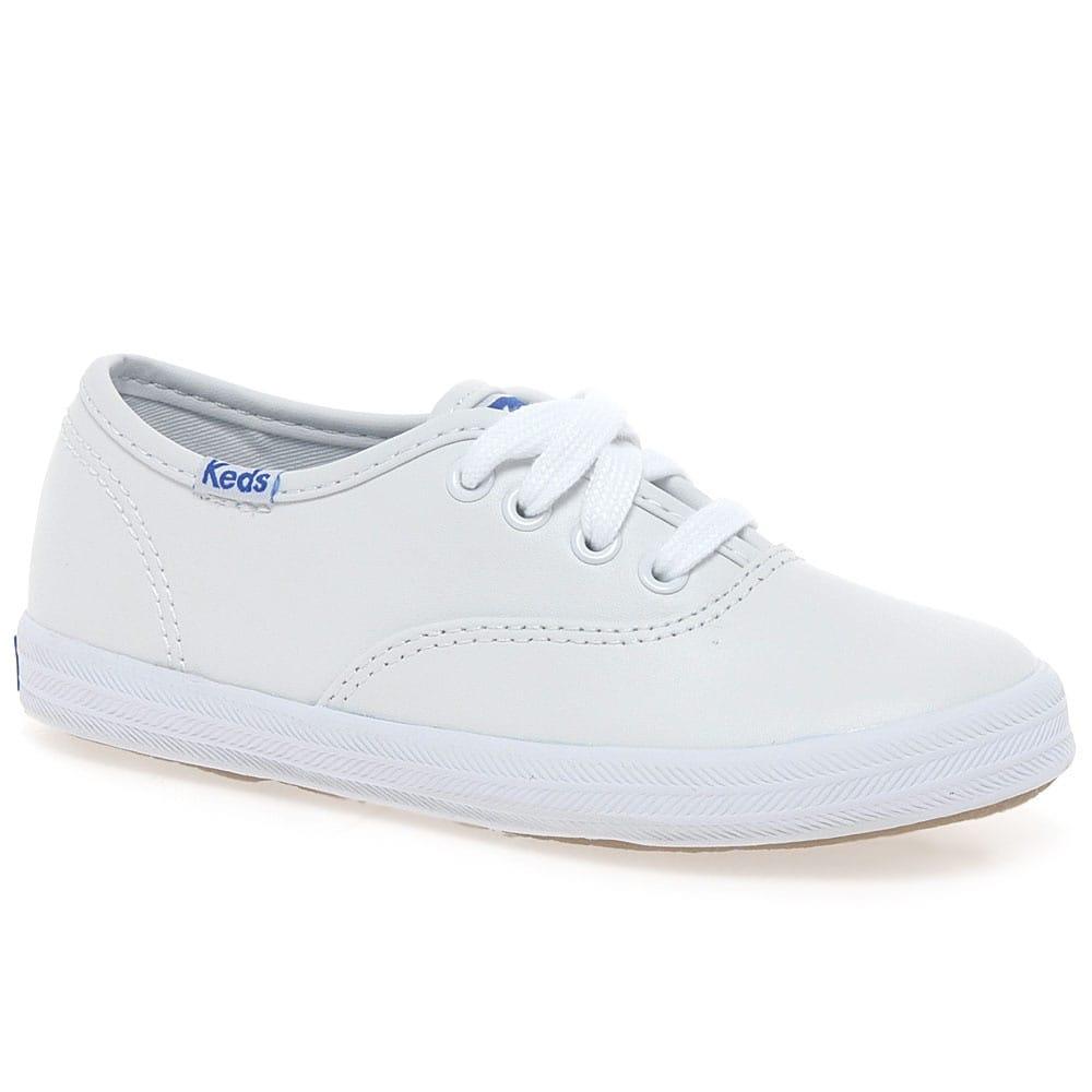 Keds Champion Girls White Leather