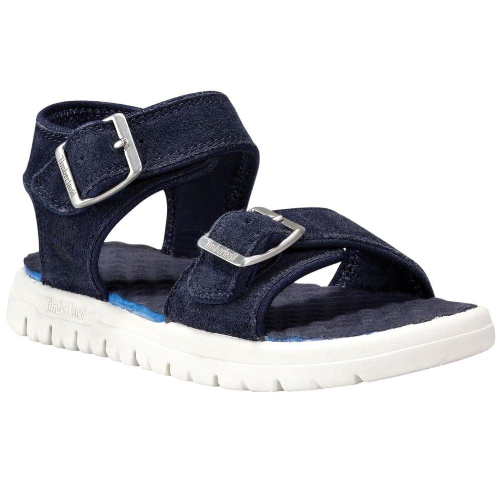 bien fuera x detalles para marca popular Timberland Piermont Toddler Blue Suede Sandals | Charles Clinkard