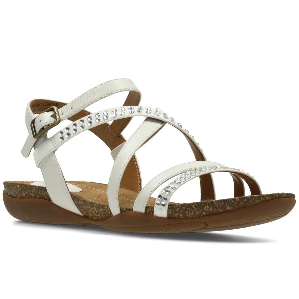 Clarks Autumn Peace Womens Wide Sandals 2 White