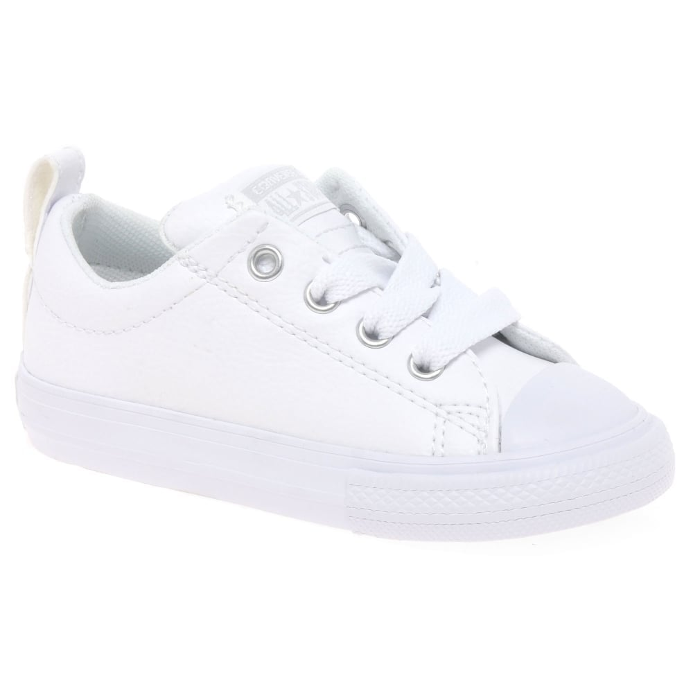 white leather converse infant - 50% OFF
