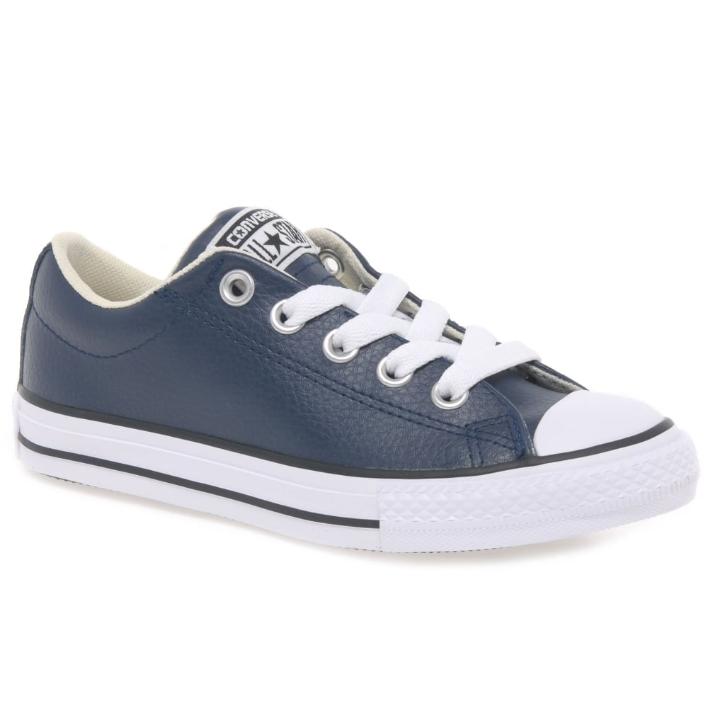 boys navy leather converse Online