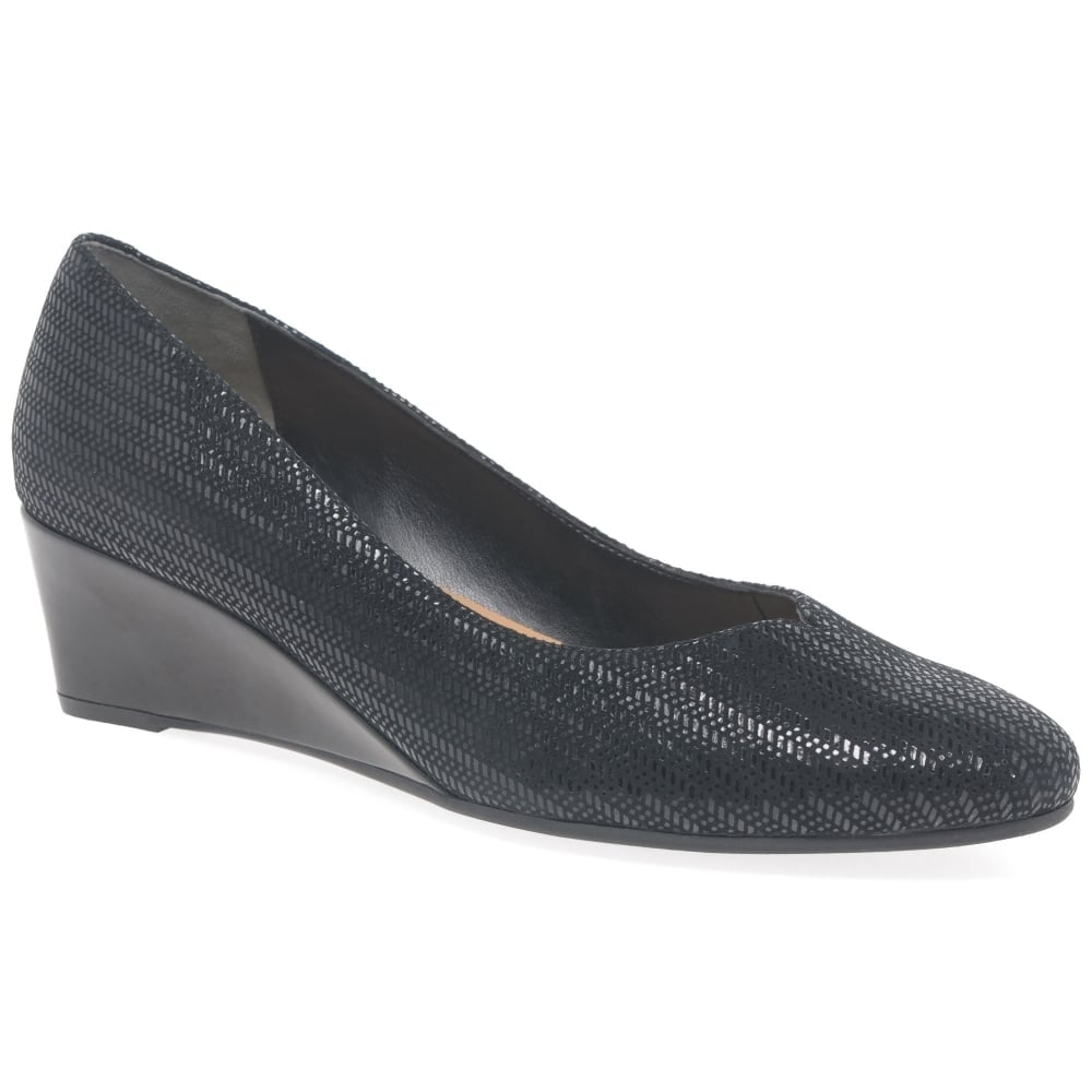 Hanover Wide Fitting Ladies Wedge Heeled Shoes