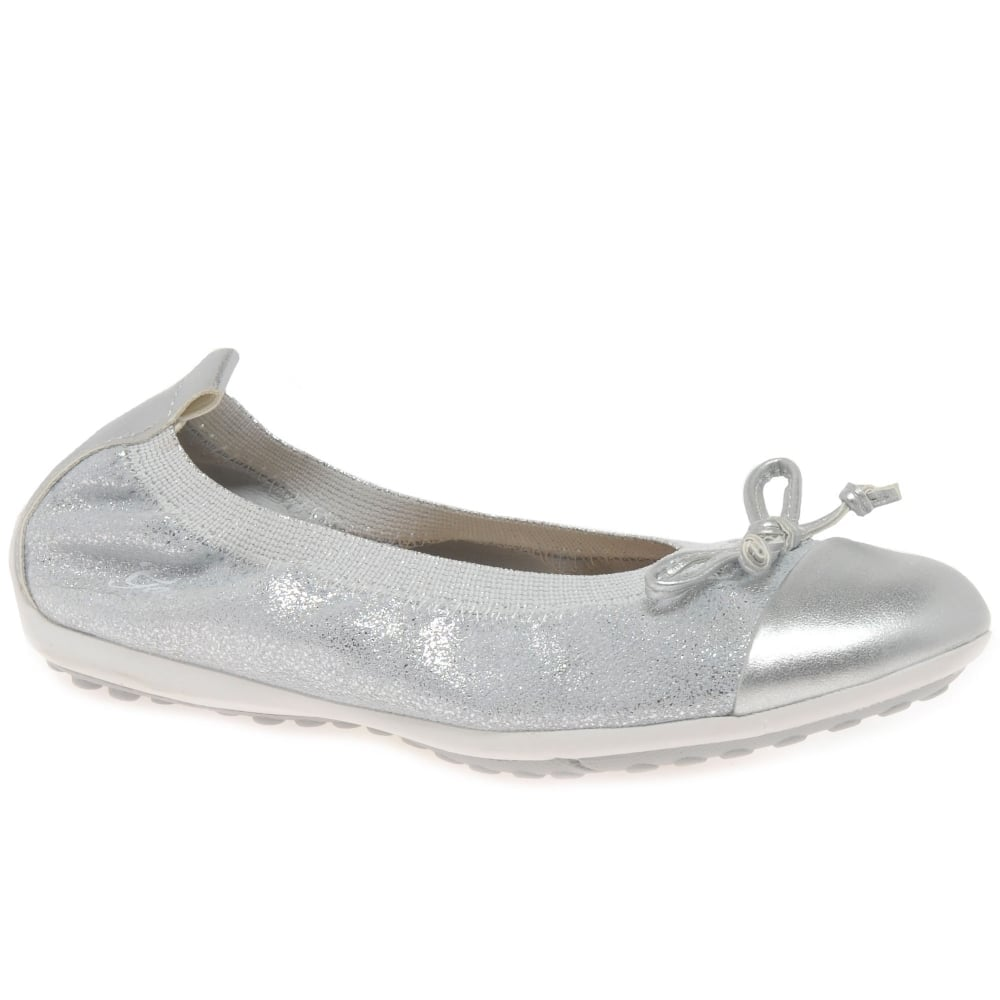 Geox Piuma Ballerine Girls' Silver