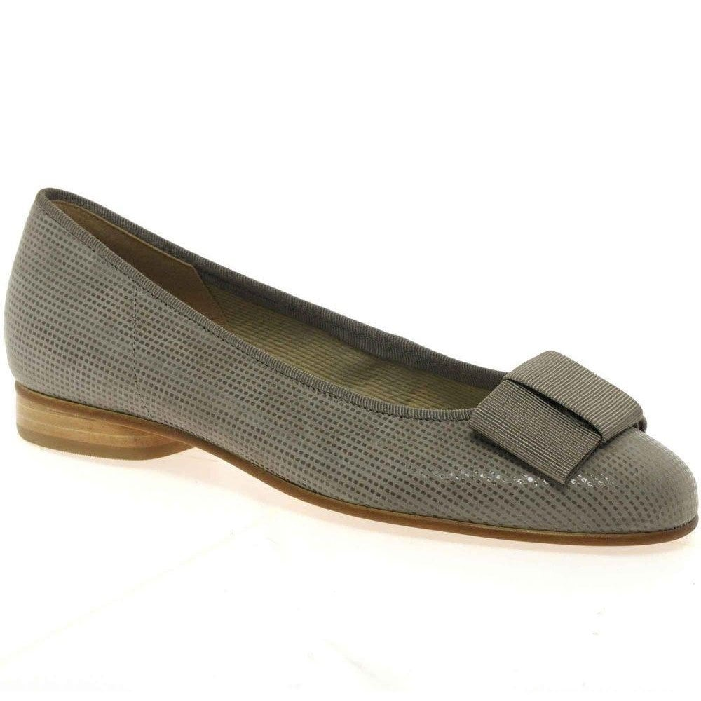 Flat Gabor Ballet Shoes With Bow