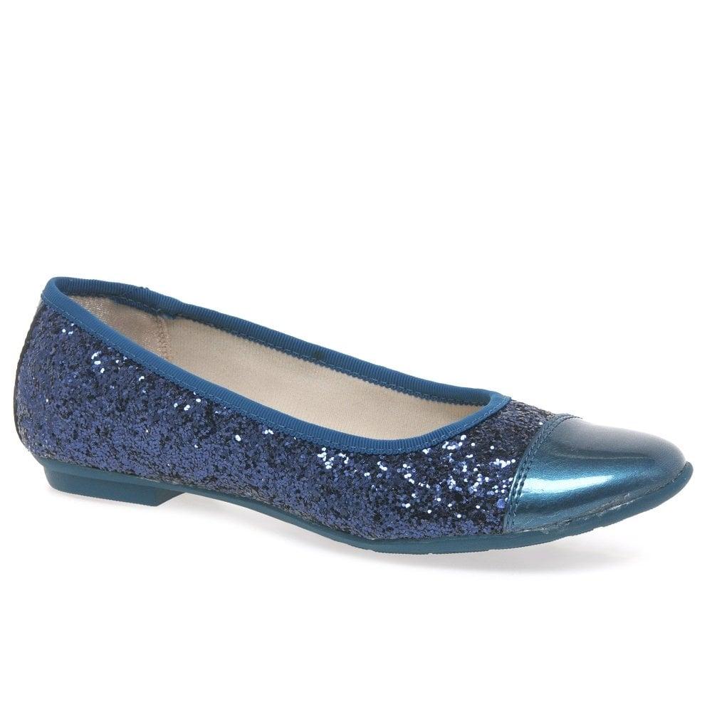 girls glitter ballet pumps