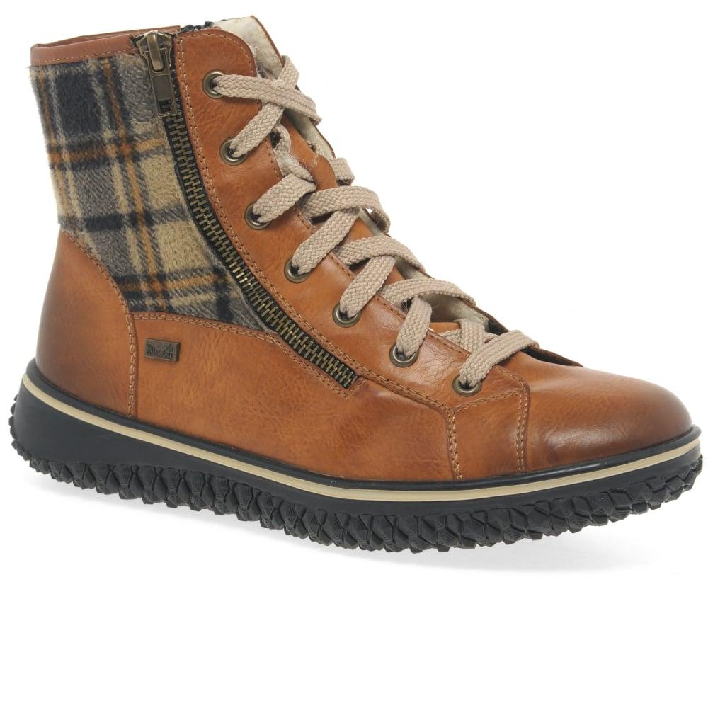 Rieker Tartan Womens Casual Ankle Boots