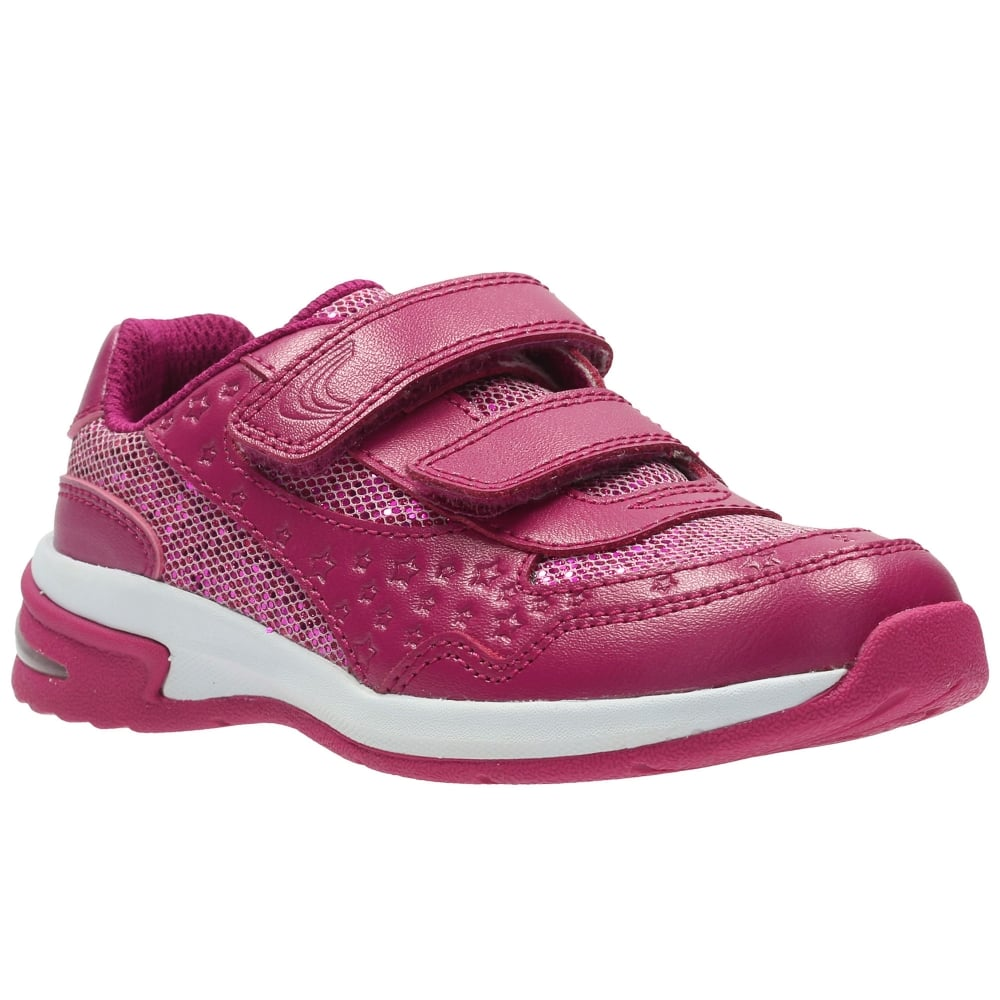 Clarks Piper Play Girls Infant Trainers