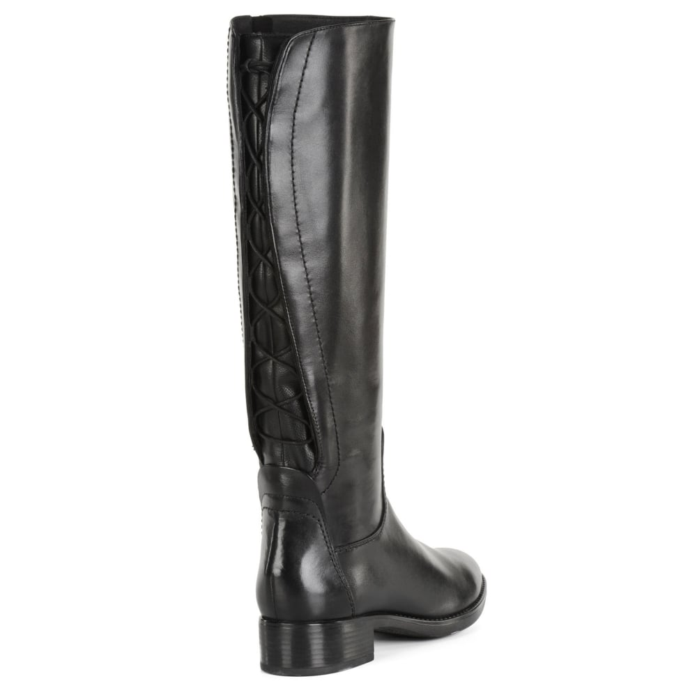 Intento Tratar Estúpido  Geox Felicity Tie Back Womens Long Boots - Women from Charles Clinkard UK