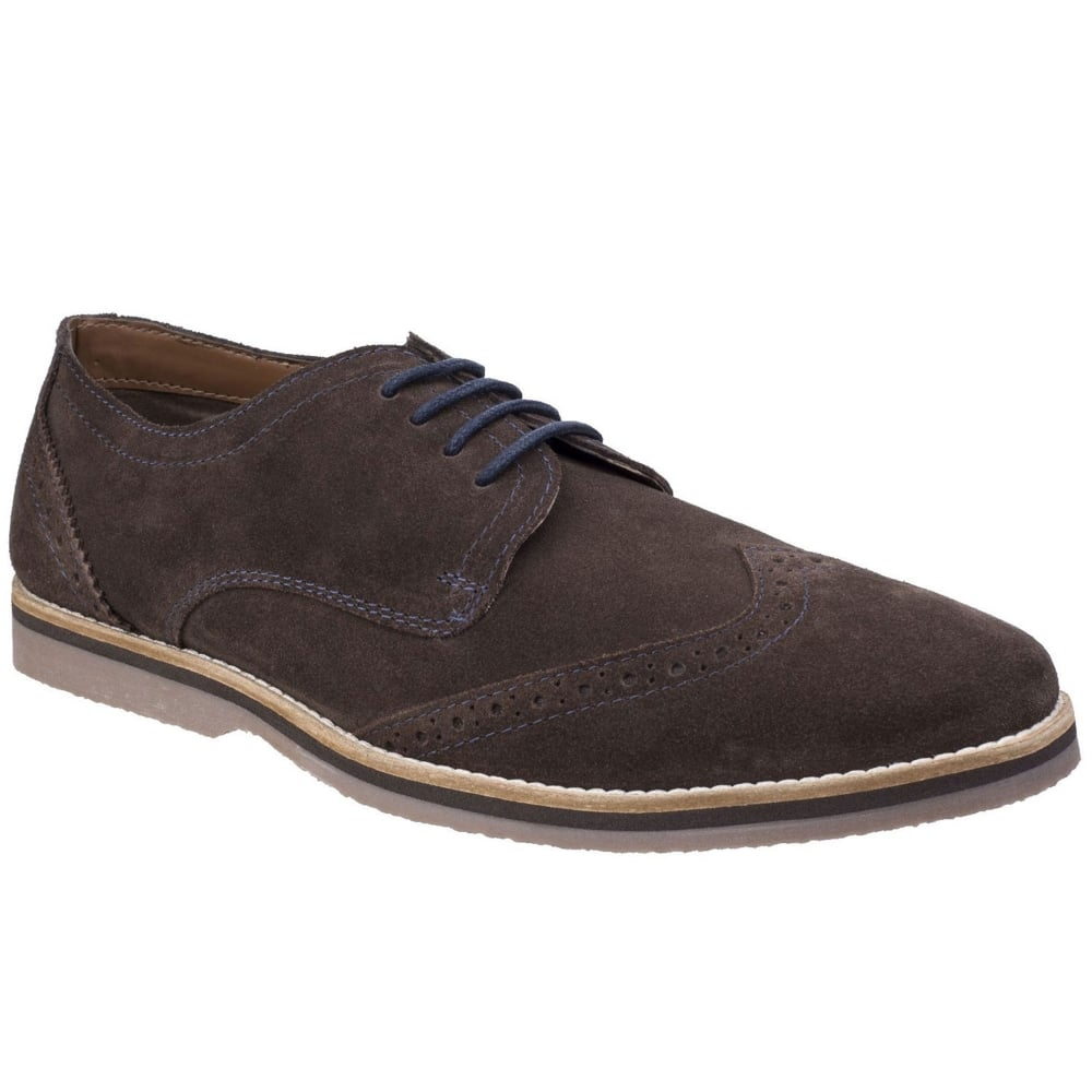 Hush Puppies Sebastian Mens Wing Tip Brogues Suede Lace Up Shoes