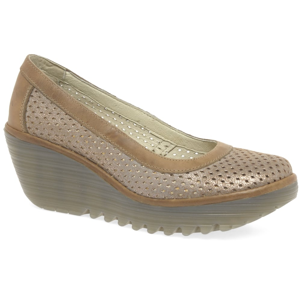 Fly London Yobe Womens Wedge Heel Shoes