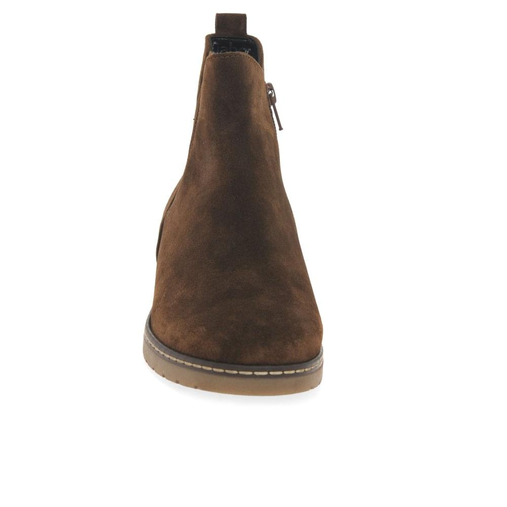 Ladies Suede Chelsea Ankle Boots UK