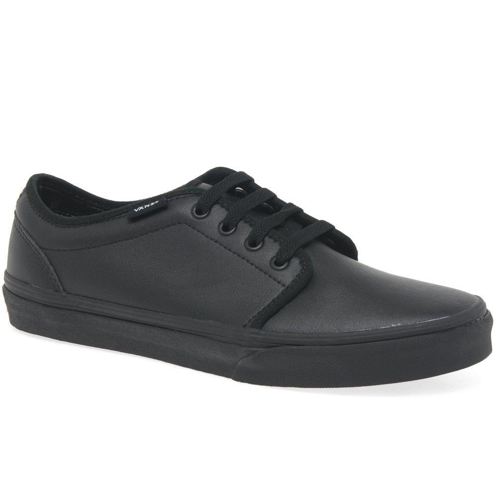 Vans 106 Boys All Black Lace Up School