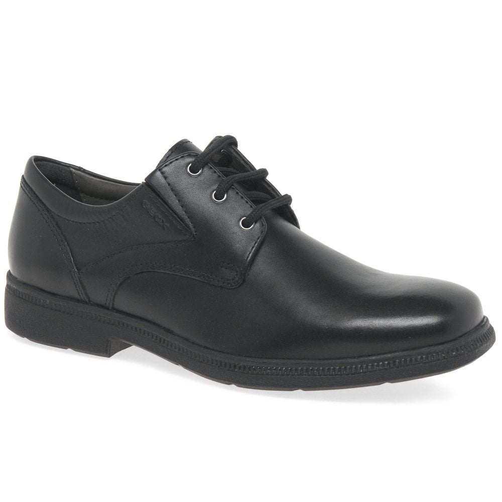 hilo Discutir Cambiarse de ropa  Geox Federico Junior Boys Leather School Shoes | Charles Clinkard