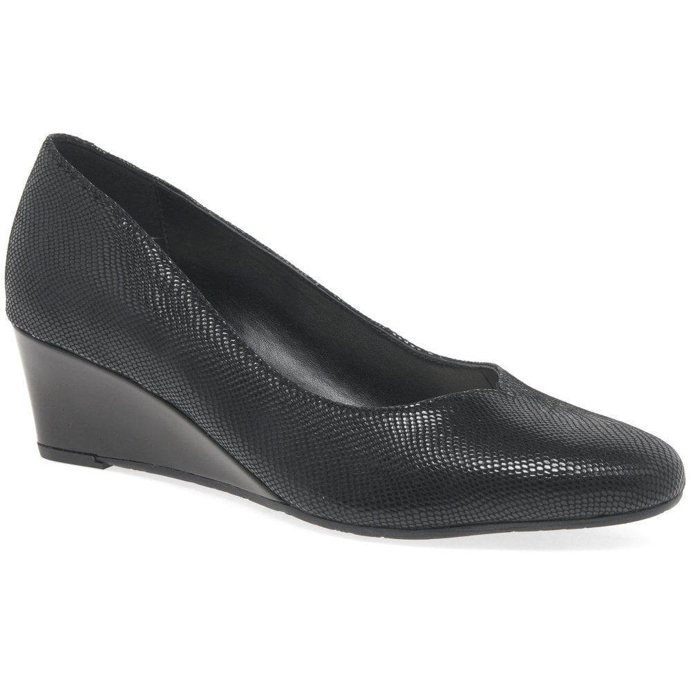 Van Dal Hanover Womens Leather Wide Fit Wedge Court Shoes