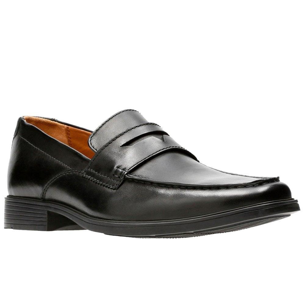 clarks black loafers mens