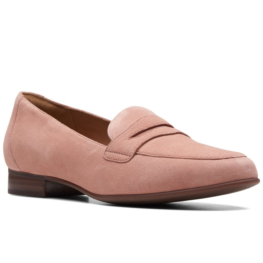 Clarks Un Blush Go Womens Wide Fit Penny Loafers | Charles ...