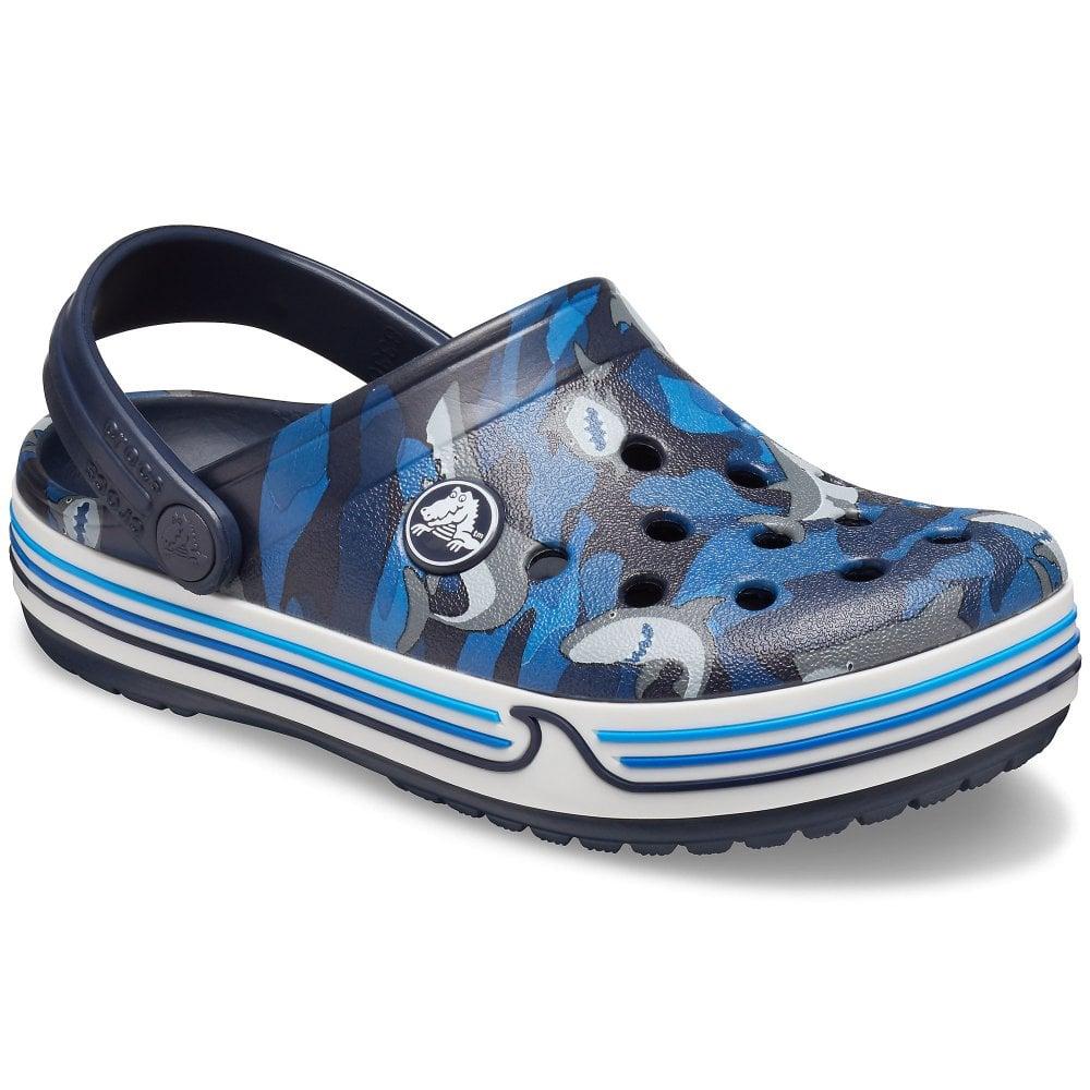 Crocs Crocband Shark Clog Boys Sandals| Charles Clinkard
