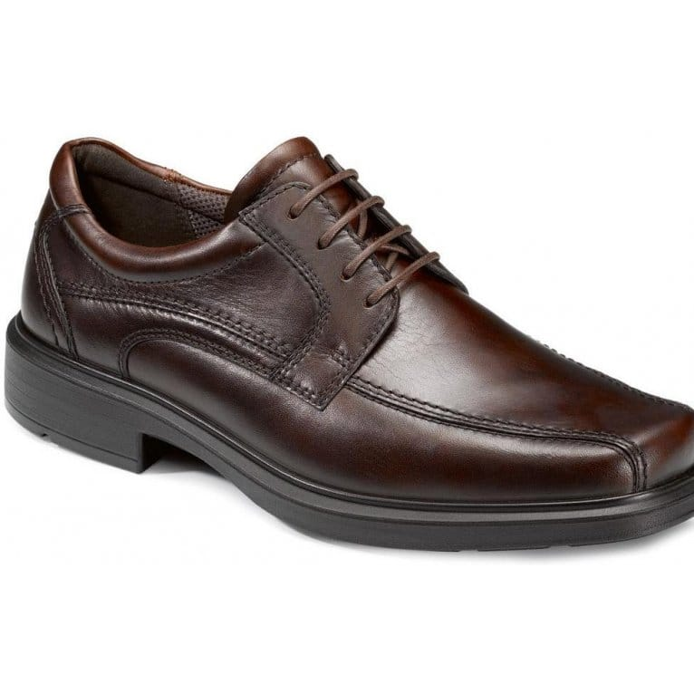 Ecco Kumula Leather Lace Up Mens Shoes