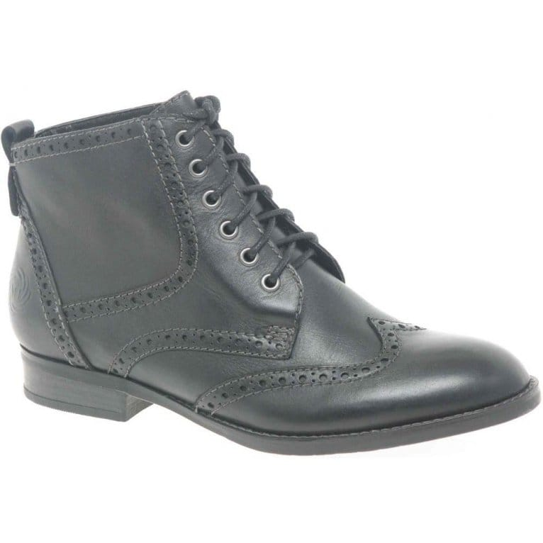 Marco Tozzi Olly Womens Lace Up Brogue Styled Ankle Boots