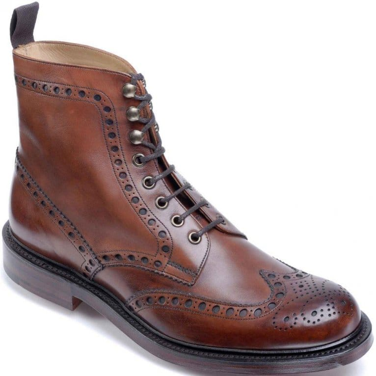 Cheaney Tweed Mens Formal Lace Up Boots