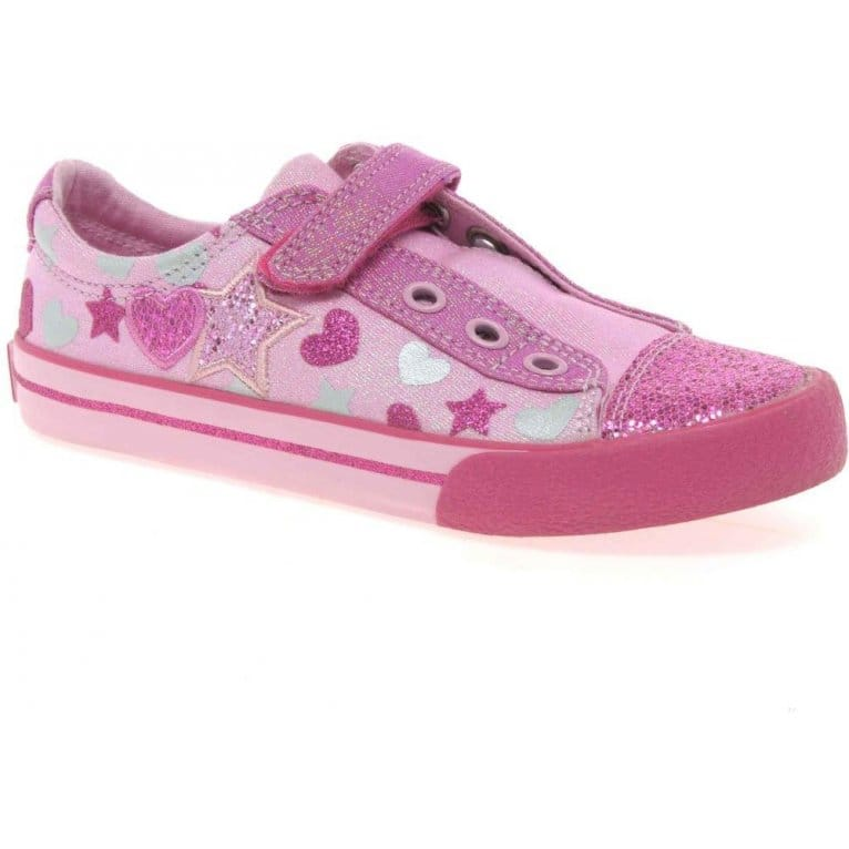 Clarks Glitter Be Infant Girls Canvas Shoes