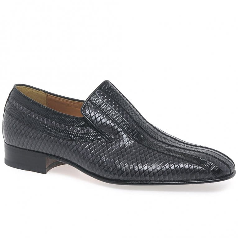 Paco Milan Almansa Croc Leather Slip on Mens Loafers