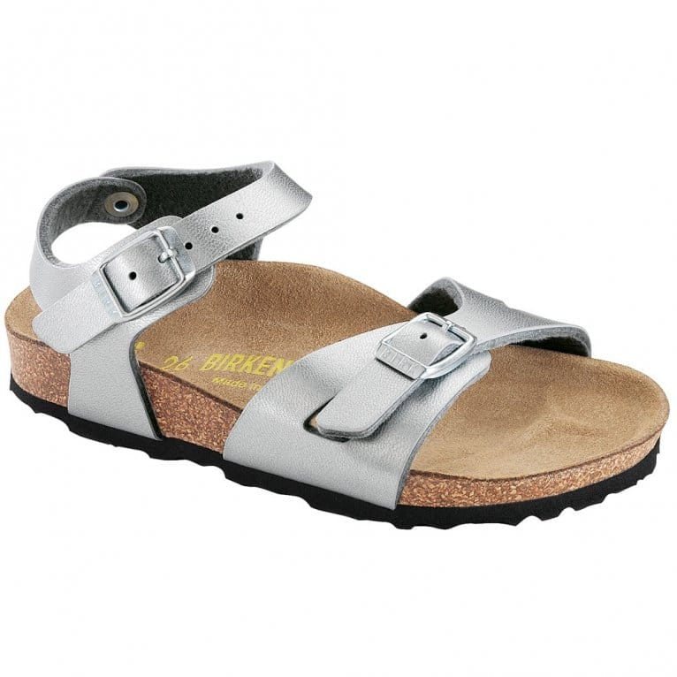 Birkenstock Rio Girls Silver Sandals